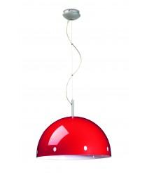 Lámpara colgante roja en 2 tamaños - Retro - Pujol Iluminación