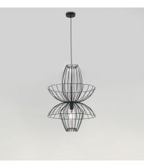 Lámpara colgante acero acabado negro – Ellen – Aromas