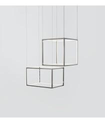 Lámpara colgante formas cuadradas varios tamaños acabado cromo – Cube X – Aromas