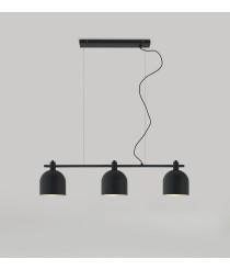 Lámpara colgante acabado negro con 3 luces – Luca+ - Aromas