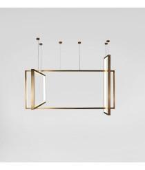 Lámpara colgante acabado en bronce varios tamaños – Frame – Aromas