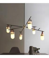 Lámpara colgante combinada compuesta por 6 brazos – Almon – Aromas