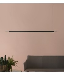 Lámpara colgante estructura lineal acabado negro mate – Coln – Aromas