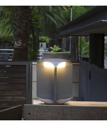 Lámpara LED baliza gris oscuro ojos de búho dos tamaños – Bu-Oh – Faro