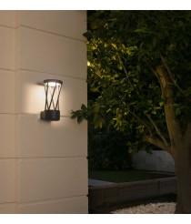 Lámpara LED aplique gris oscuro cuerpo entramado – Twist – Faro