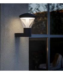 Lámpara LED aplique gris oscuro líneas depuradas – Shelby – Faro