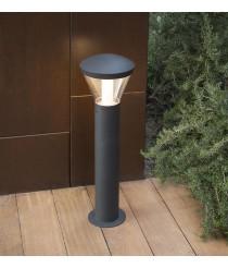 Lámpara LED baliza gris oscuro líneas depuradas disponible en dos tamaños – Shelby – Faro