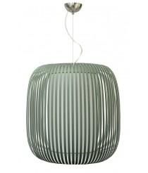 Lámpara colgante con pantalla de tiras de material montblanc en dos acabados – Grace – IDP Lampshades