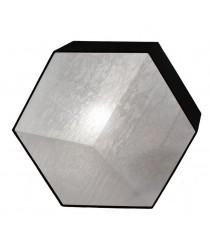 Plafón/aplique hexagonal dos luces con pantalla cotón negro y tapa termoconformada – IDP Lampshades