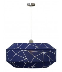 Lámpara colgante Ø 50 cm con pantalla de tres piezas en dos acabados – Trencadis – IDP Lampshades