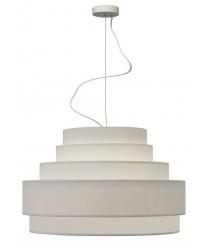 Lámpara colgante con pantalla de 5 alturas color blanco – Planetario – IDP Lampshades