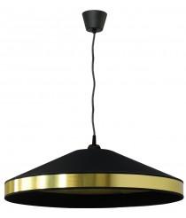 Lámpara colgante con pantalla y anillo de pvc metálico en dos acabados – House – IDP Lampshades