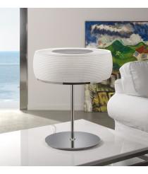 Lámpara de mesa con pantalla de cristal soplado en blanco - Inari - Bover