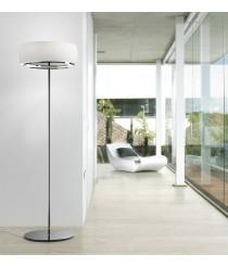 Lámpara de pie con pantalla de cristal soplado blanco opal - Inari - Bover