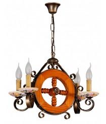 Lámpara colgante con 4 luces – L18 – Artesanía Joalpa