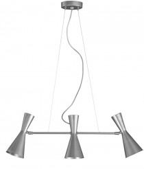 Lámpara colgante con 3 pantallas color plata – Trimo – Artesanía Joalpa