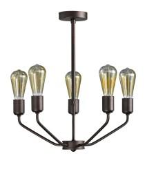 Lámpara de techo estructura marrón oscuro con 5 u 8 luces – Yami – Artesanía Joalpa