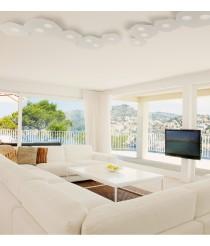Plafón de techo acabado blanco arena 7 luces – Area – Mantra Iluminación