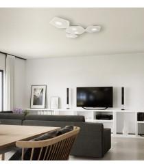 Plafón de techo acabado blanco arena 5 luces – Area – Mantra Iluminación
