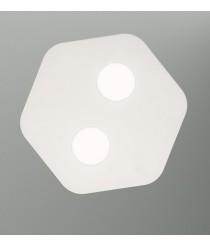 Plafón de techo acabado blanco arena 2 luces – Area – Mantra Iluminación