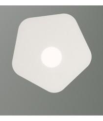 Plafón de techo acabado blanco arena 1 luz – Area – Mantra Iluminación