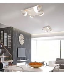 Aplique de techo con 4 luces acabado blanco arena – Tsunami – Mantra Iluminación