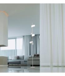 Pie de salón acabado blanco arena con tres luces – Tsunami – Mantra Iluminación