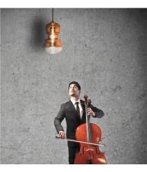 Lámpara colgante forma violín disponible en tres medidas y tres acabados – Sonata – Mantra Iluminación