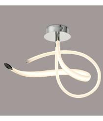 Semiplafón LED 40W acabado en cromo y acrílico – Armonia – Mantra Iluminación
