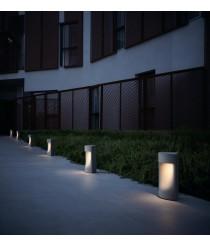 Lámpara de exterior en cemento gris IP66 2700K - Moai - Bover