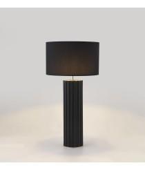 Lámpara de mesa con cuerpo de cerámica negro mate y detalles en oro Ø 77 cm – Onica – Aromas