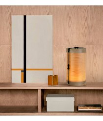 Lámpara de mesa portátil de madera LED regulable en intensidad con cargador USB 3000K – Luciole – Plussmi