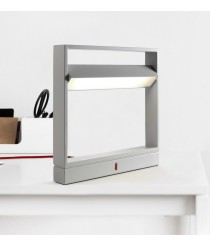Lámpara de mesa de metal LED regulable en intensidad con acabado gris 3000K – Wilson - Plussmi