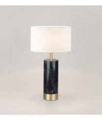 Lámpara de mesa con cuerpo en mármol negro y oro envejecido – Cand – Aromas
