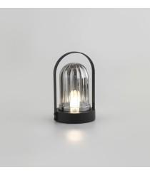 Lámpara de mesa acabado negro mate con cristal gris Ø 15.5 cm – Mond – Aromas