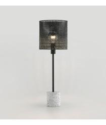 Lámpara de mesa acabado negro mate sobre piedra en granito gris – Ito – Aromas