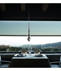 Lámpara de techo con pantalla de aluminio macizo brillante - Slend 02 - Bover