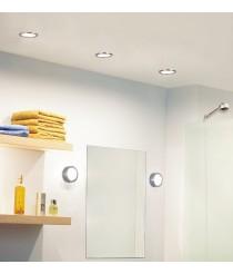 Aplique de techo y pared redondo acabado níquel mate Ø 11 cm - Esferic - Pujol Iluminación