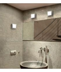 Aplique de techo y pared cuadrado cromo brillo - Esferic - Pujol Iluminación