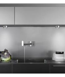 Aplique LED para muebles acabado aluminio Ø 6,5 cm - Cuina - Pujol Iluminación