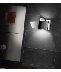 Aplique de pared en aluminio cromo níquel mate - Ado - Pujol Iluminación