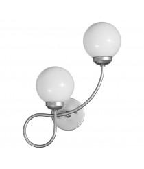 Aplique de pared con 2 luces acabado Plata orientación derecha – Zorita – Artesanía Joalpa