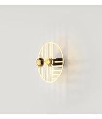 Aplique de pared circular disponible en 4 acabados diferentes Ø 25 cm – Line - Aromas
