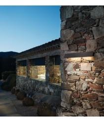 Aplique de pared de exterior de aluminio marrón grafito 2 tamaños – Alba – Bover