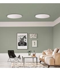 Aplique de techo circular LED de metal y acrílico blanco en 2 medidas – Angus – ACB Iluminación
