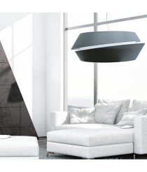 Lámpara de techo con pantalla de 2 piezas en gris en 2 tamaños - Anita - IDP Lampshades
