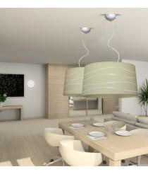 Lámpara de techo colgante de material arenal en 3 colores 50 cm - Arenal Ondas - IDP Lampshades