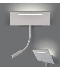 Aplique de pared LED para lectura con flexo integrado 3200K - Ariel - ACB Iluminación