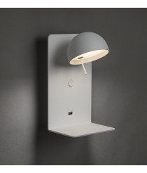Aplique de pared LED orientable con bandeja y USB - Beddy - Bover