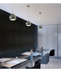 Lámpara de techo colgante LED de acero cromo brillo 3000K - Bola - Pujol Iluminación
